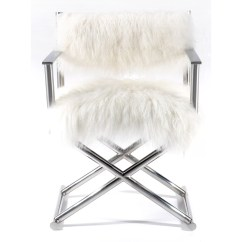Mongolian Fur Chair Cover White Wood Folding With Padded Seat Pasargad Mid Back Executive And Reviews Wayfair