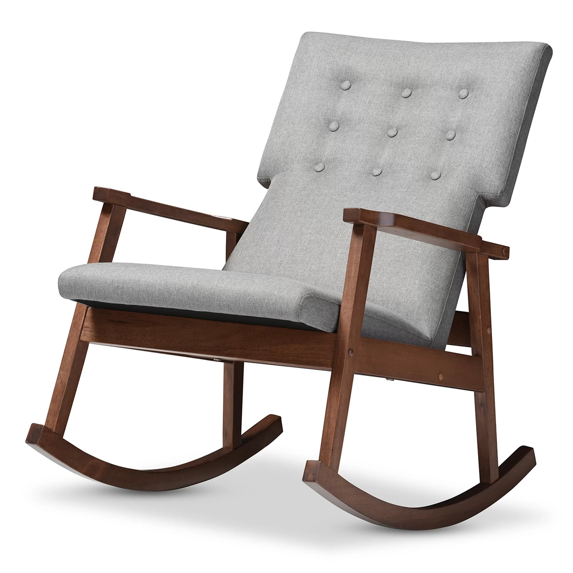 Grey Rocking Chair Wholesale Interiors Baxton Studio Rocking Chair And Reviews