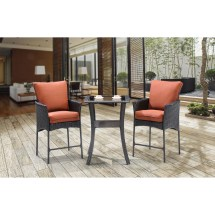 Strathmere Allure 3 Piece Bar Table Set With Cushions