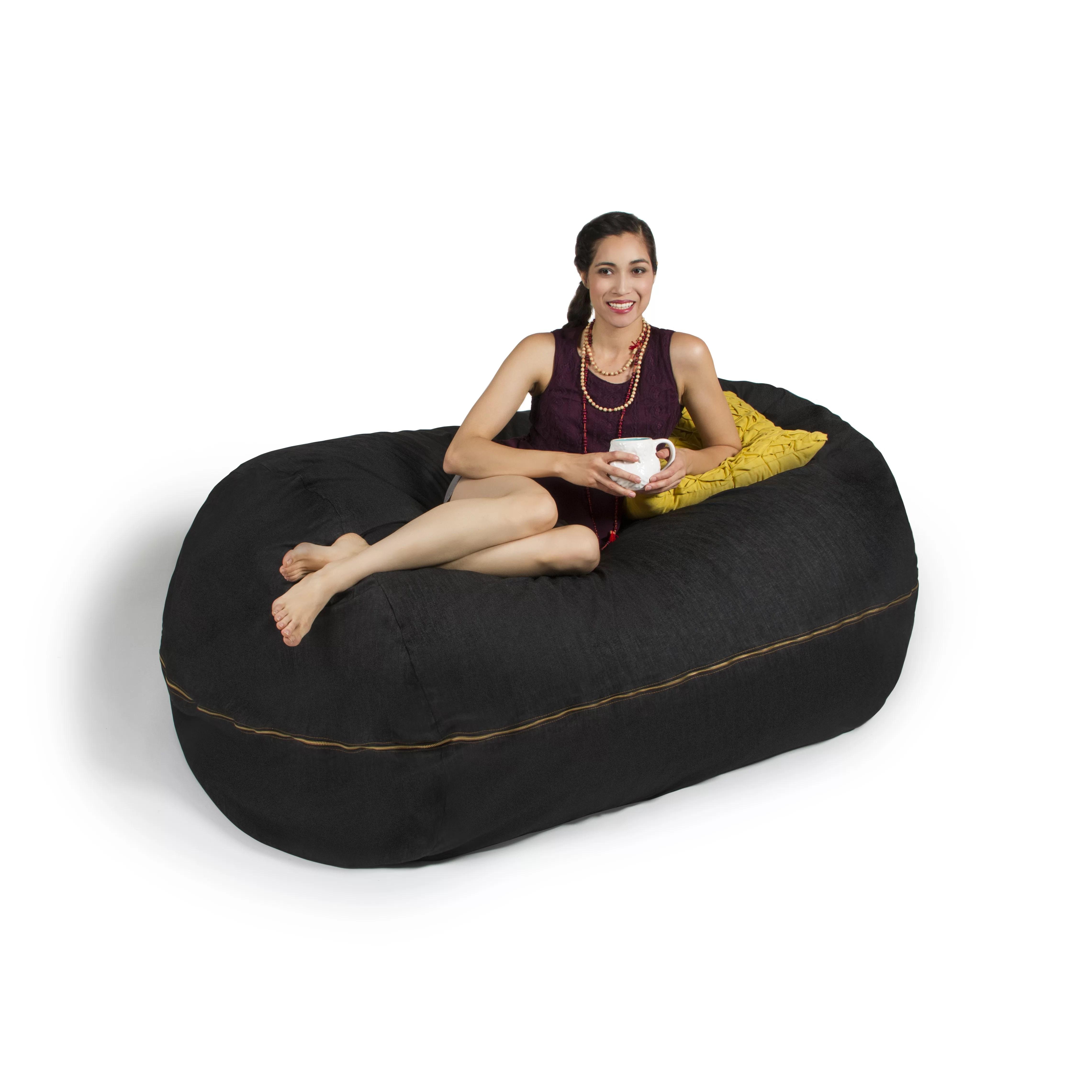 jaxx bean bag chair french louis chairs for sale denim 5 39 lounger and reviews wayfair