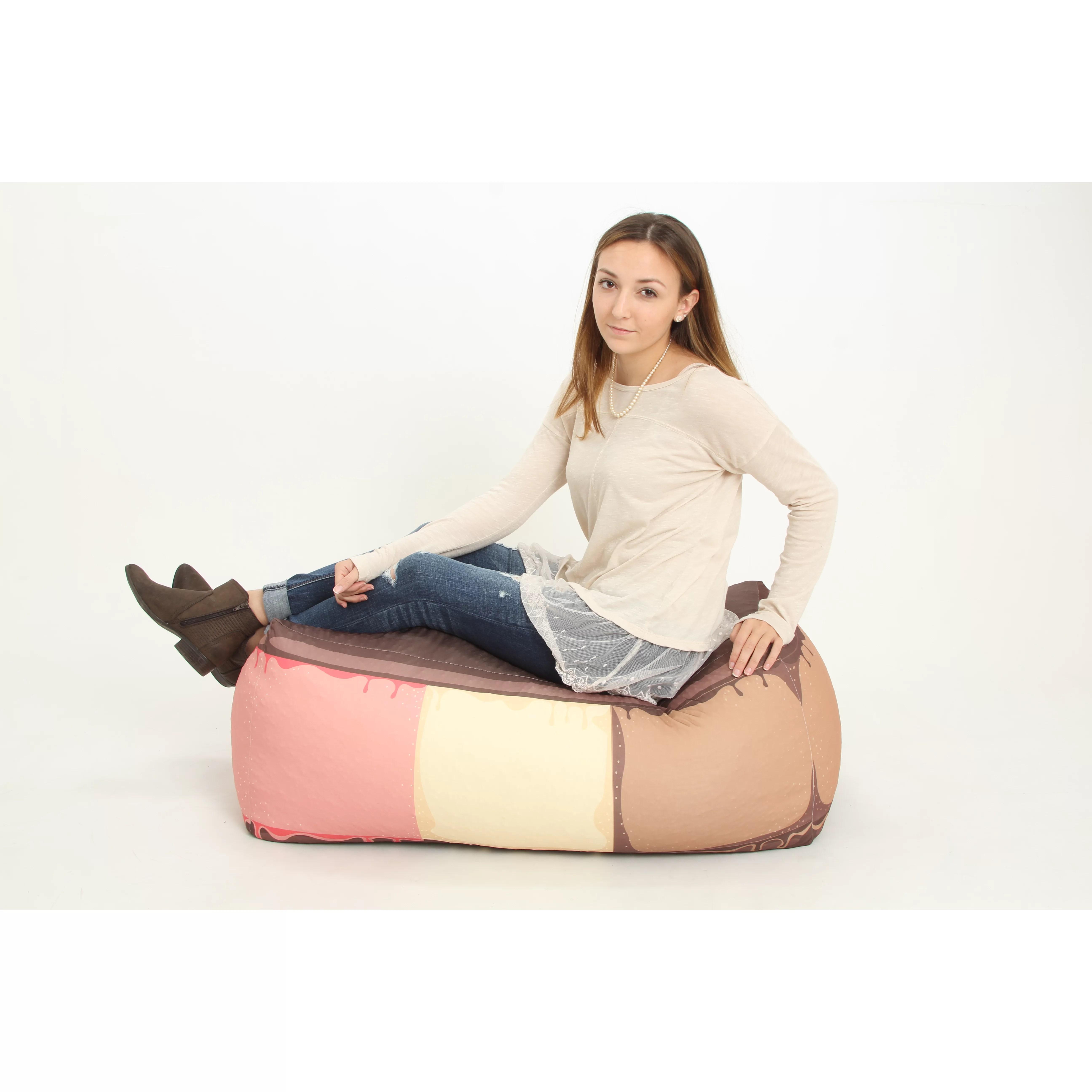 ice cream sandwich chair massage sharper image bean bag wayfair