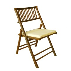 Bamboo Folding Chair Tufted Dining Room Chairs With Cushion Wayfair