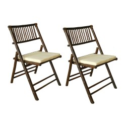 Folding Chair With Cushion Deluxe Stadium Zew Dining And Reviews Wayfair