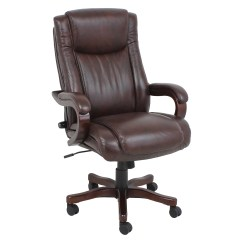 Wooden Executive Office Chairs Indoor Swing Chair With Stand Uk Barcalounger High Back Leather