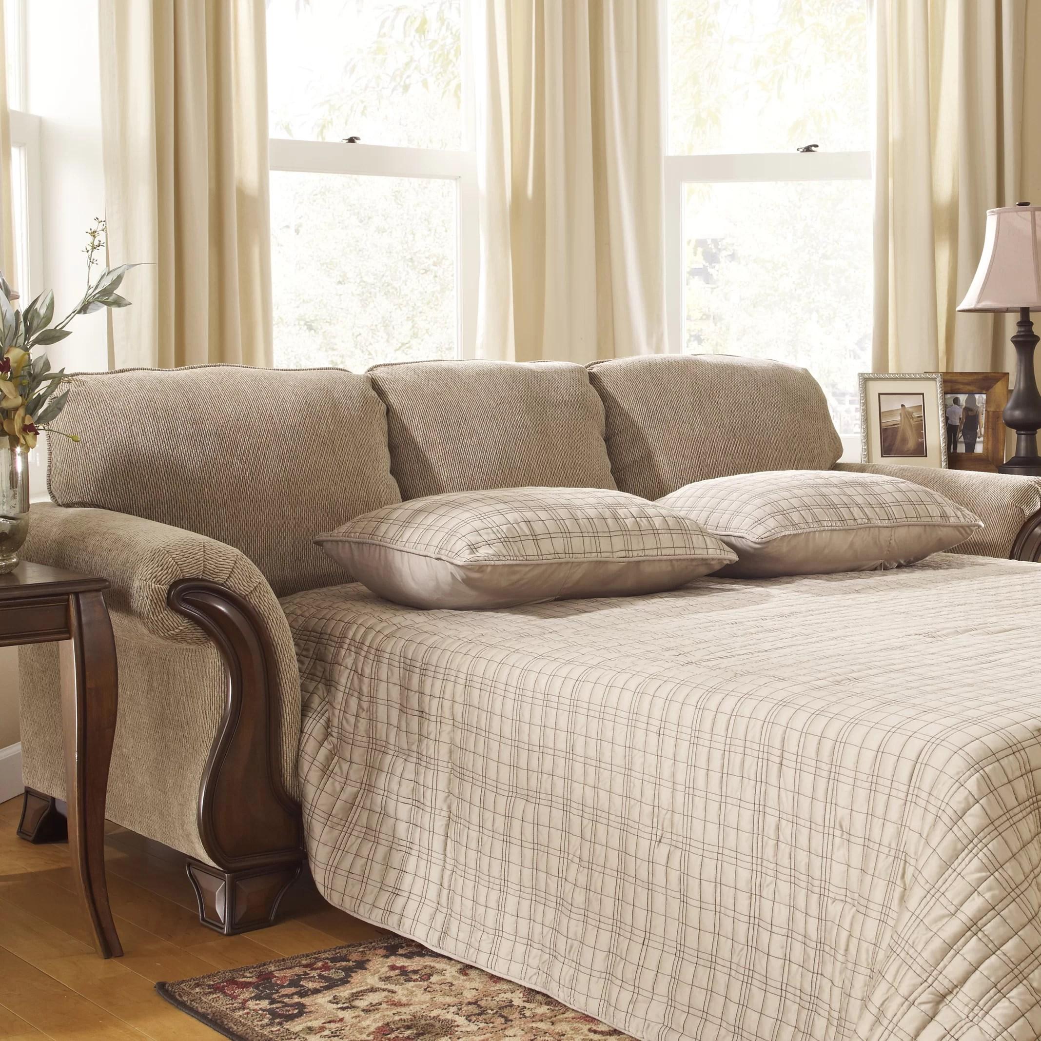 signature design by ashley harvest sleeper sofa henredon sofas lanett living room collection wayfair