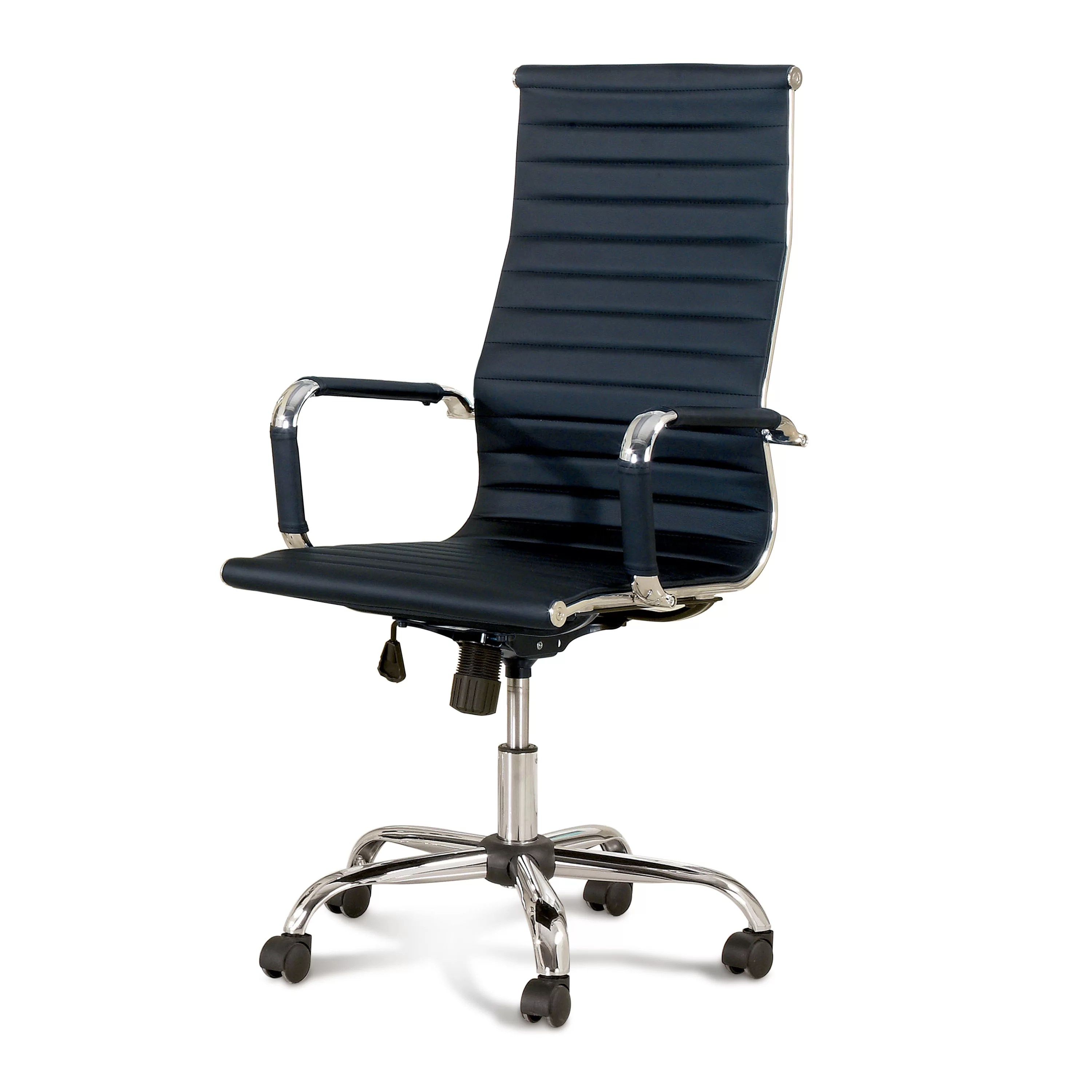 casters for office chairs white chair wooden legs hokku designs dorynn high back with