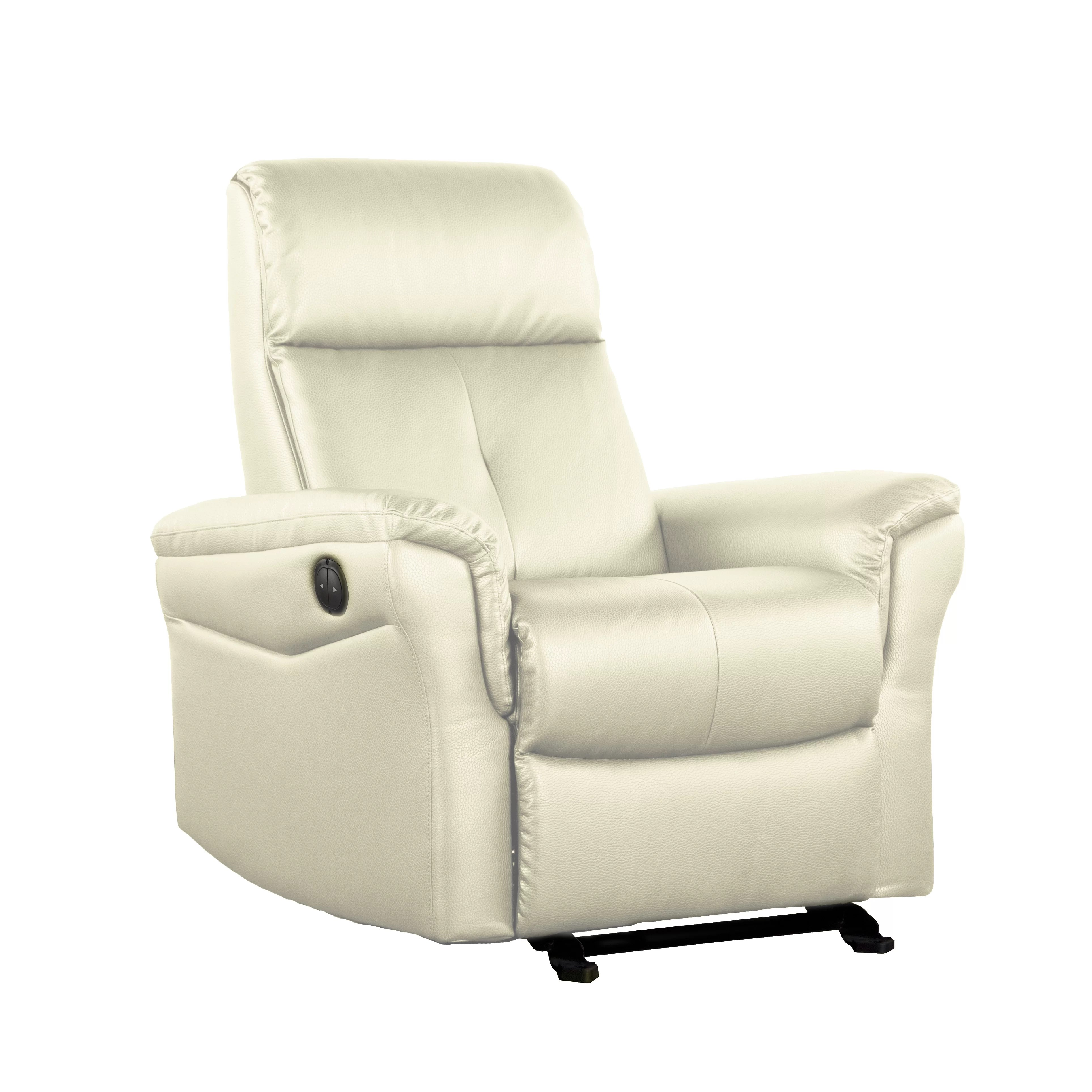 push button recliner chairs hanging chair round electric wayfair