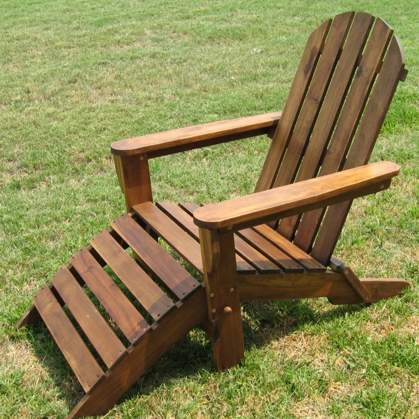 patio chairs with footrests folding picnic international caravan adirondack chair footrest