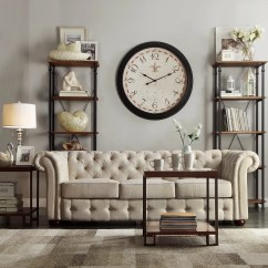 Tribecca Home Knightsbridge Beige Linen Tufted Scroll Arm Chesterfield Sofa Set Designs Photos Hot Kingstown Carthusia Button And Reviews