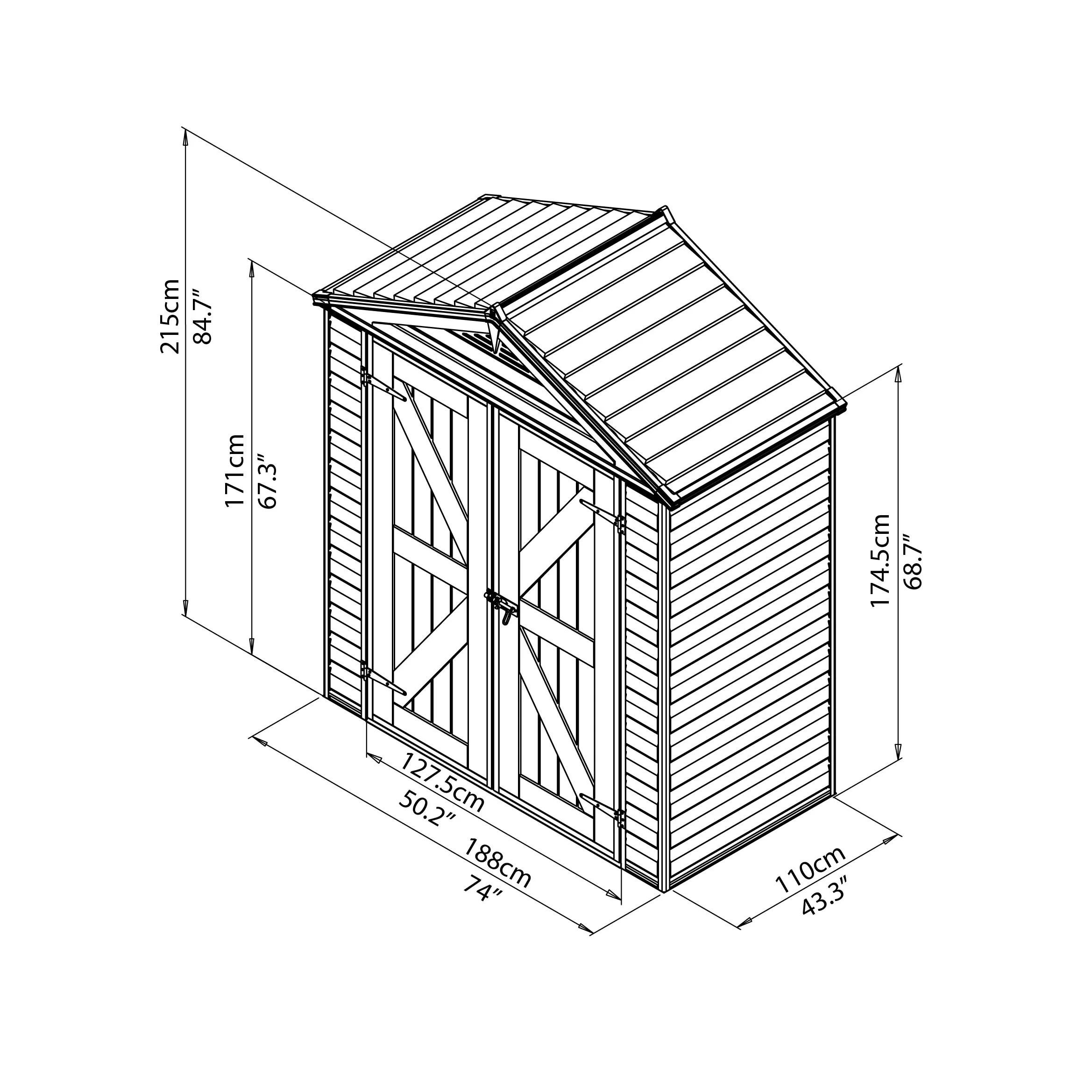 Palram Skylight 6 Ft W X 3 Ft D Polycarbonate Storage
