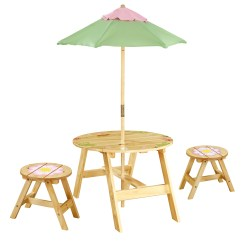 Kids Round Table And Chairs High Chair Safety Strap Fantasy Fields 3 Piece Set
