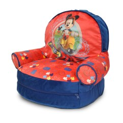 Bean Bag Storage Chair Upholstered Desk With Wheels Idea Nuova Mickey Mouse Kids Arm Bonus