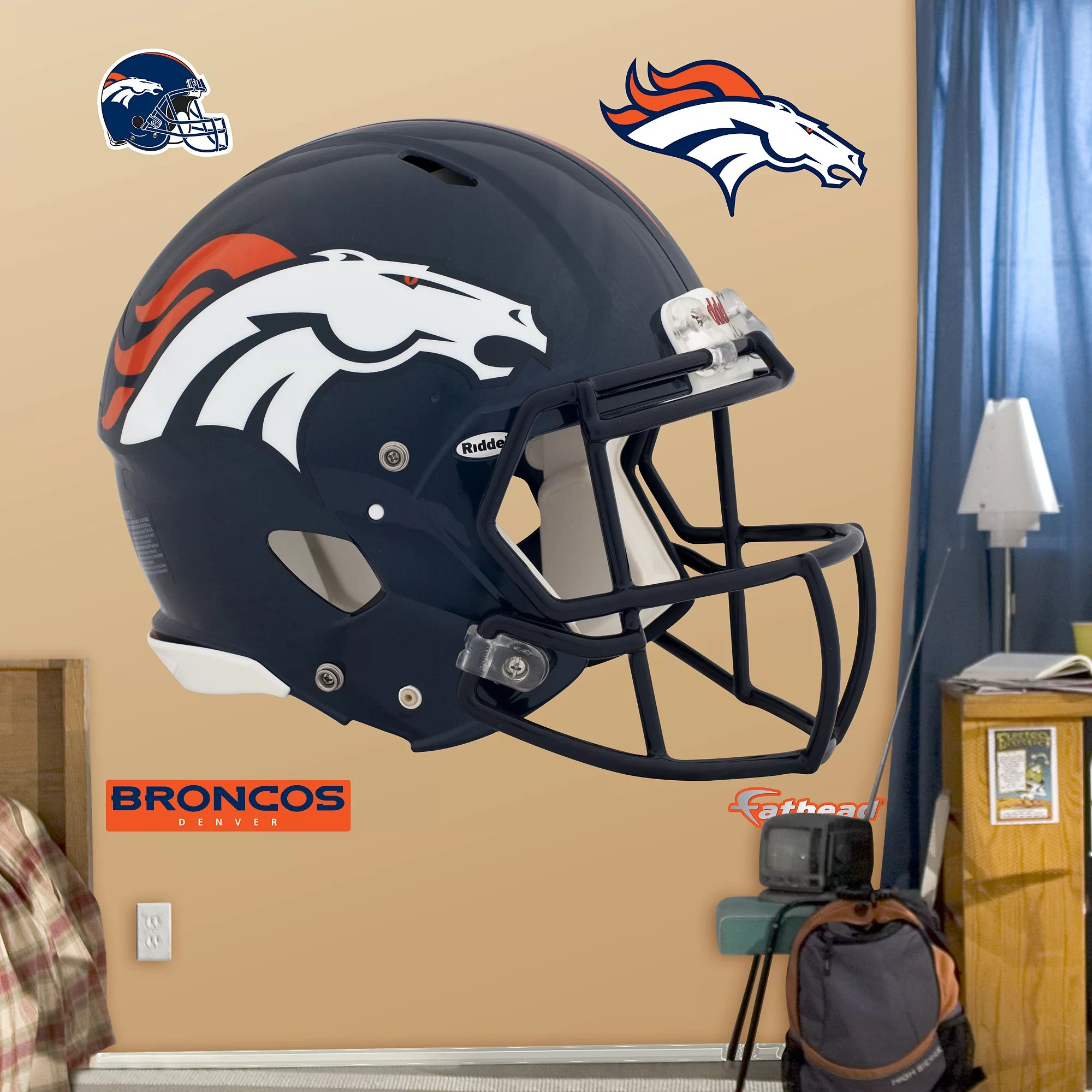 cowboys football helmet chair distressed table and chairs fathead nfl revolution wall decal reviews wayfair