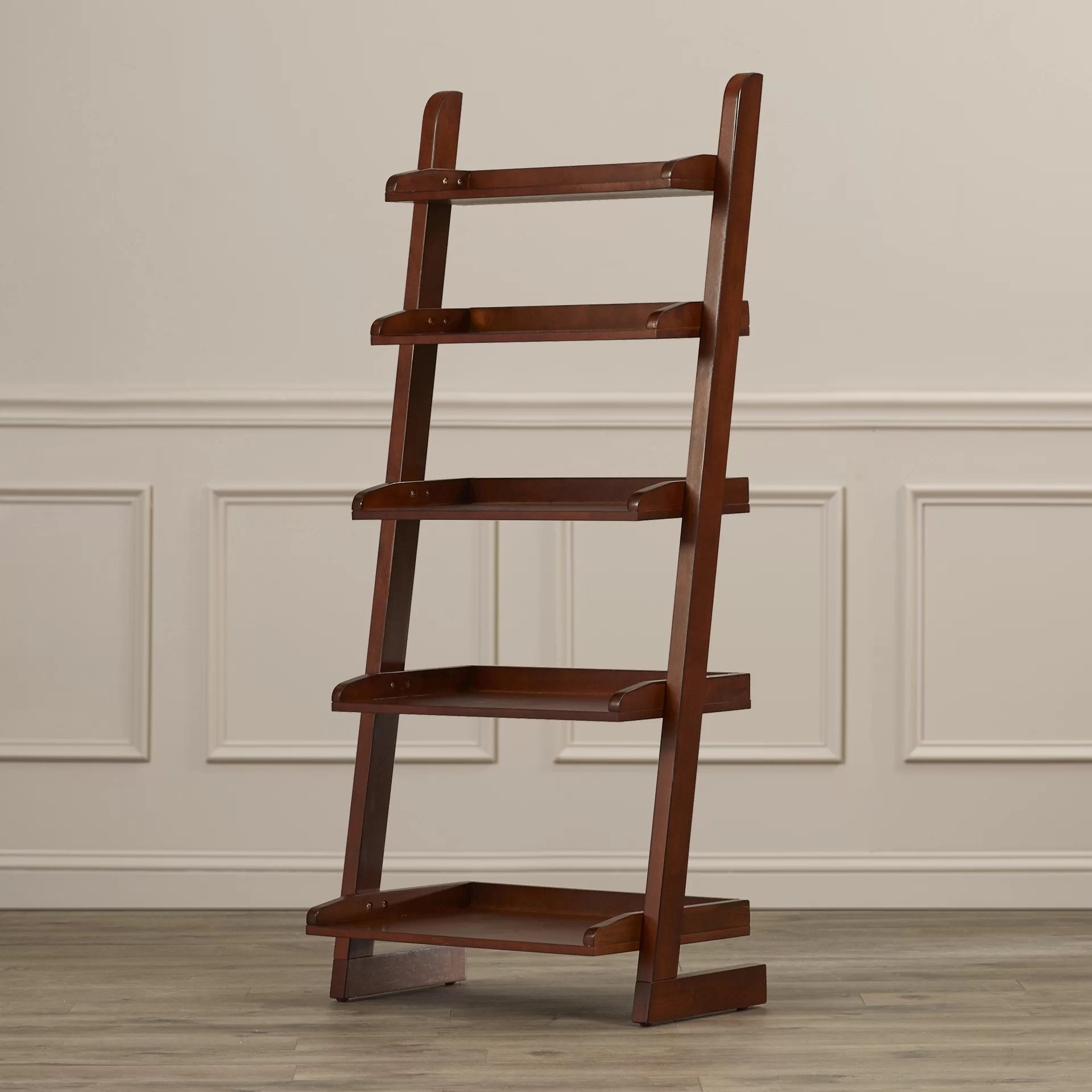 Three Posts Brownville Ladder 55quot Leaning Bookcase