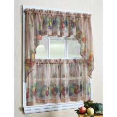 Fall Kitchen Curtains Wallpaper Borders For Kitchens Autumn Swag Curtain Panel Set Wayfair