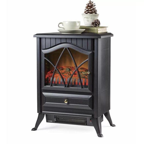 Compact Electric Stove Hearth and Plow