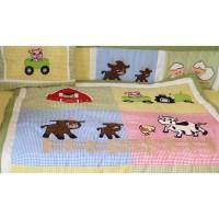Babyfad Barnyard Farm Neutral Baby 10 Piece Crib Bedding