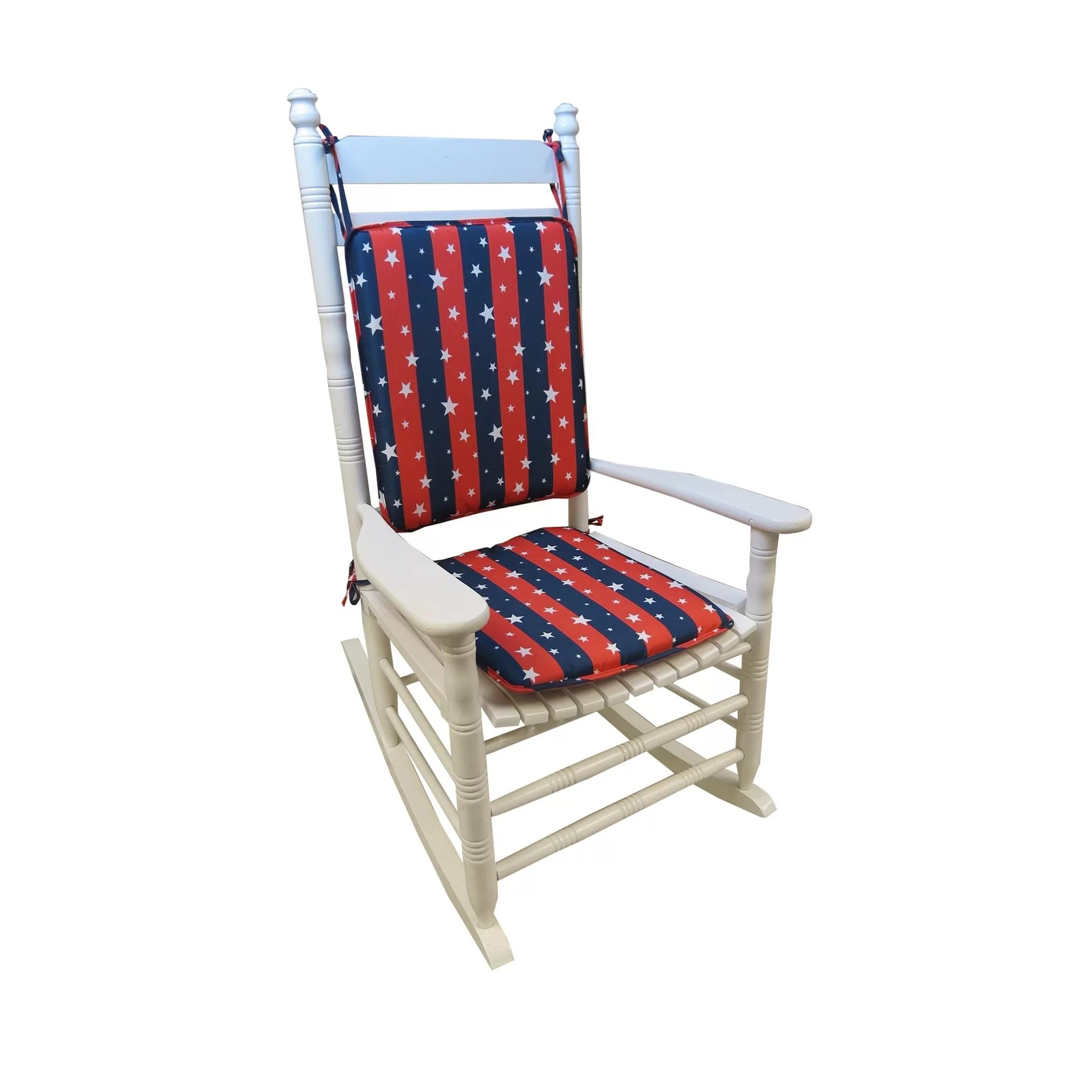2 pc rocking chair cushions evenflo modern high recall americana cushion wayfair