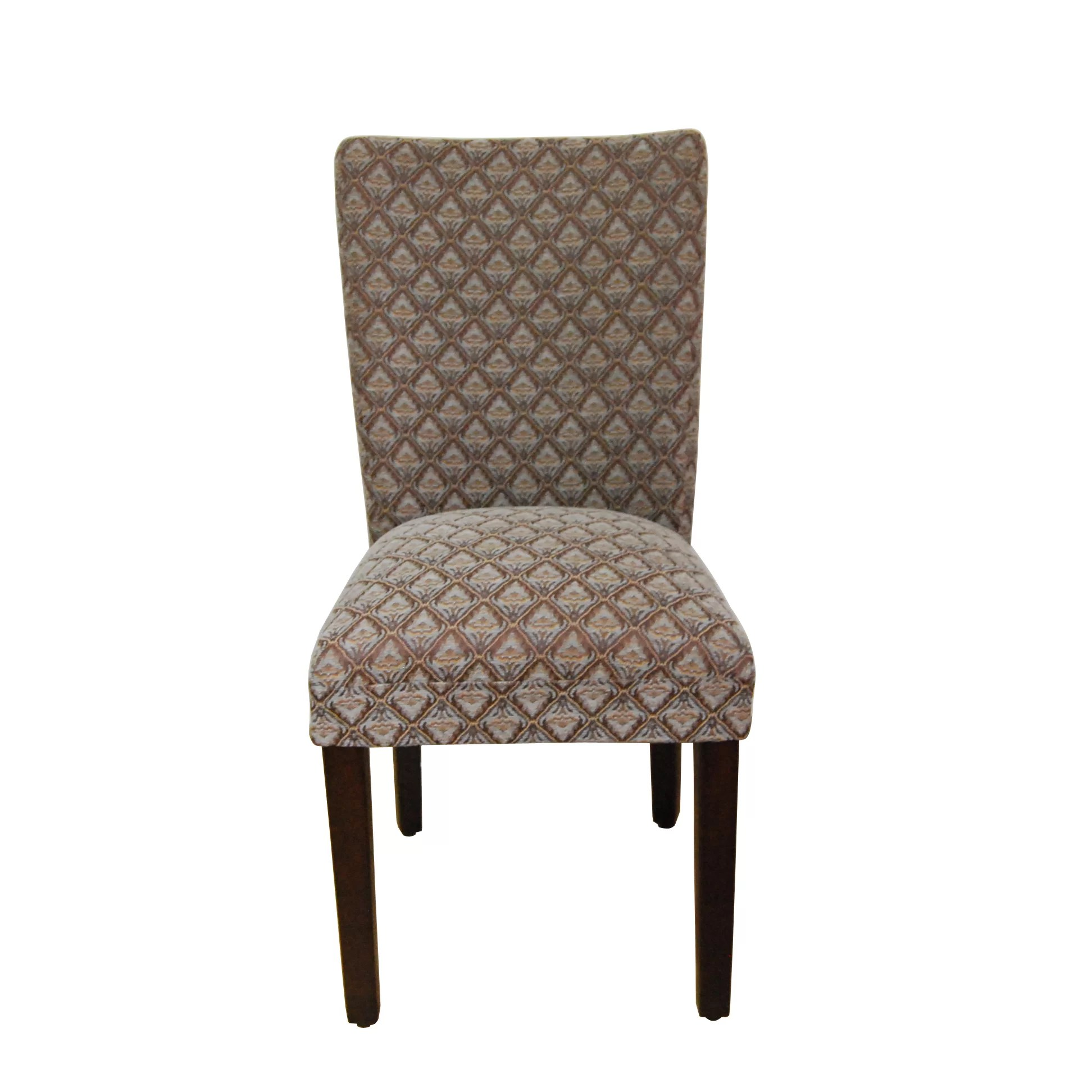 Blue Parsons Chair Homepop Kinfine Classic Upholstered Parsons Chair