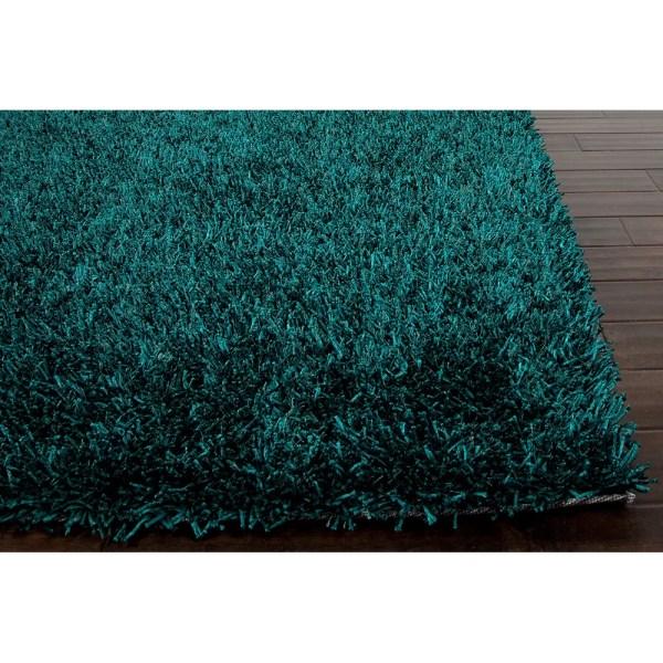 Jaipur Rugs Flux Teal Blue Shag Area Rug &