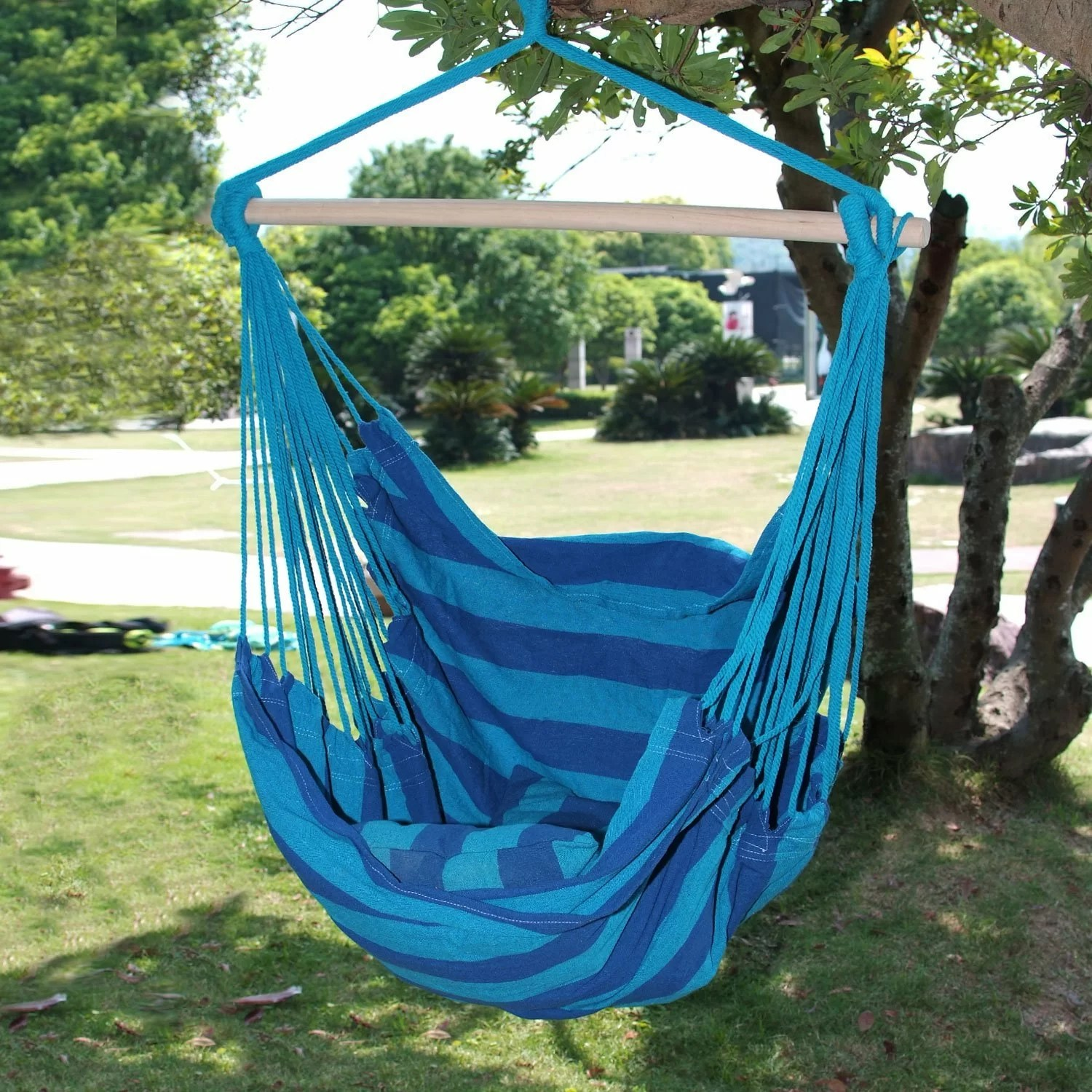 tree hanging hammock chair wedding cover hire grantham adecotrading naval cotton fabric canvas