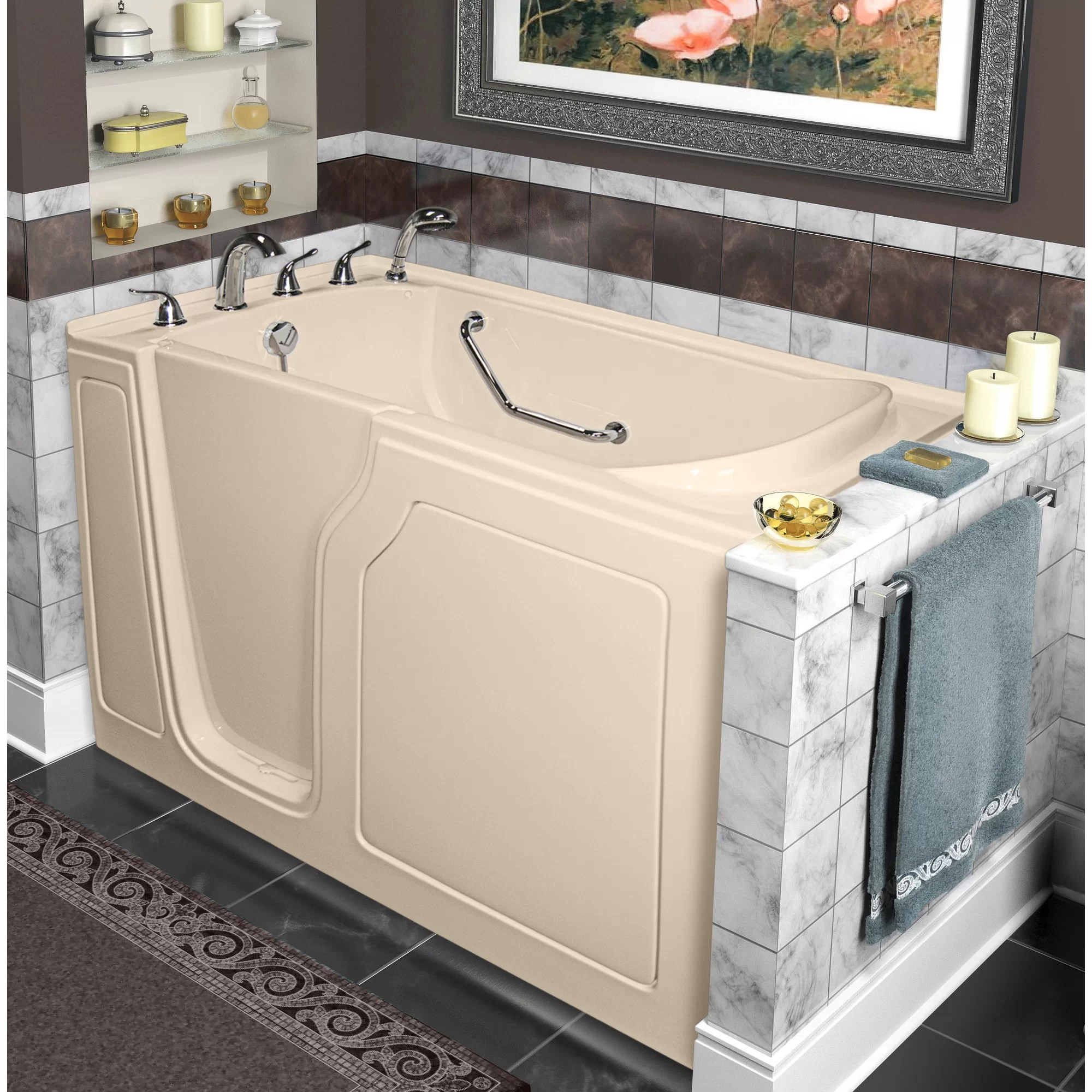 Dignity 48 x 28 Whirlpool and Air Jetted WalkIn Bathtub  Wayfair