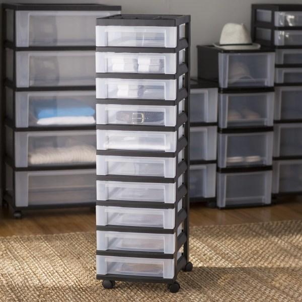 Basics 10 Drawer Rolling Storage Cart &