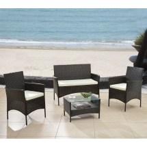 Madison Home Usa 4 Piece Patio Deep Seating Group With