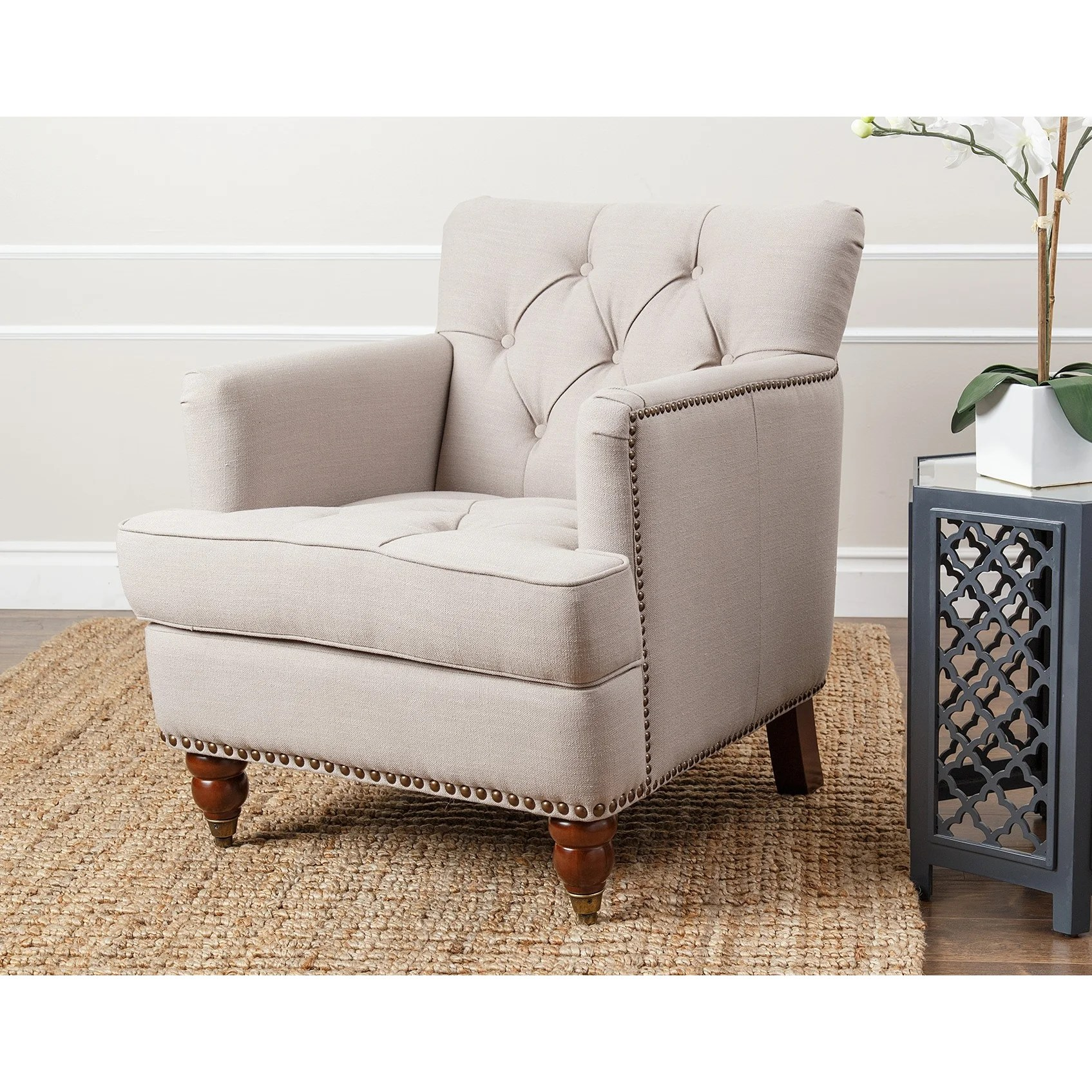 abbyson living thatcher fabric rocking chair in beige wheelchair bathroom darby home co newland arm and reviews wayfair