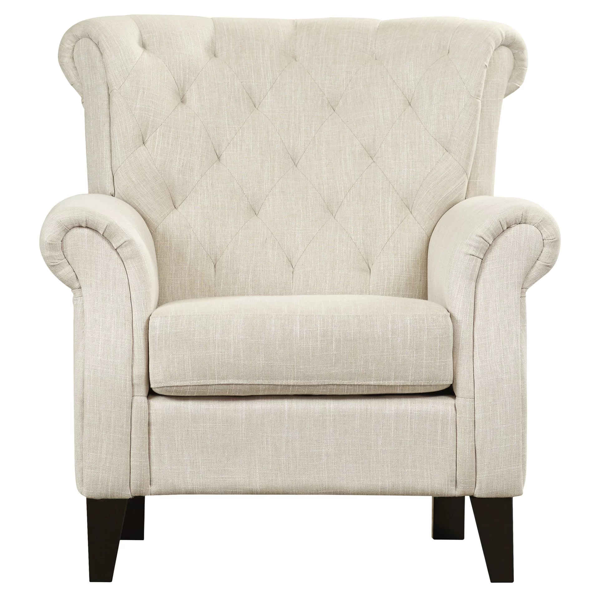 Armed Accent Chairs Alcott Hill Tufted Upholstered Arm Chair And Reviews Wayfair