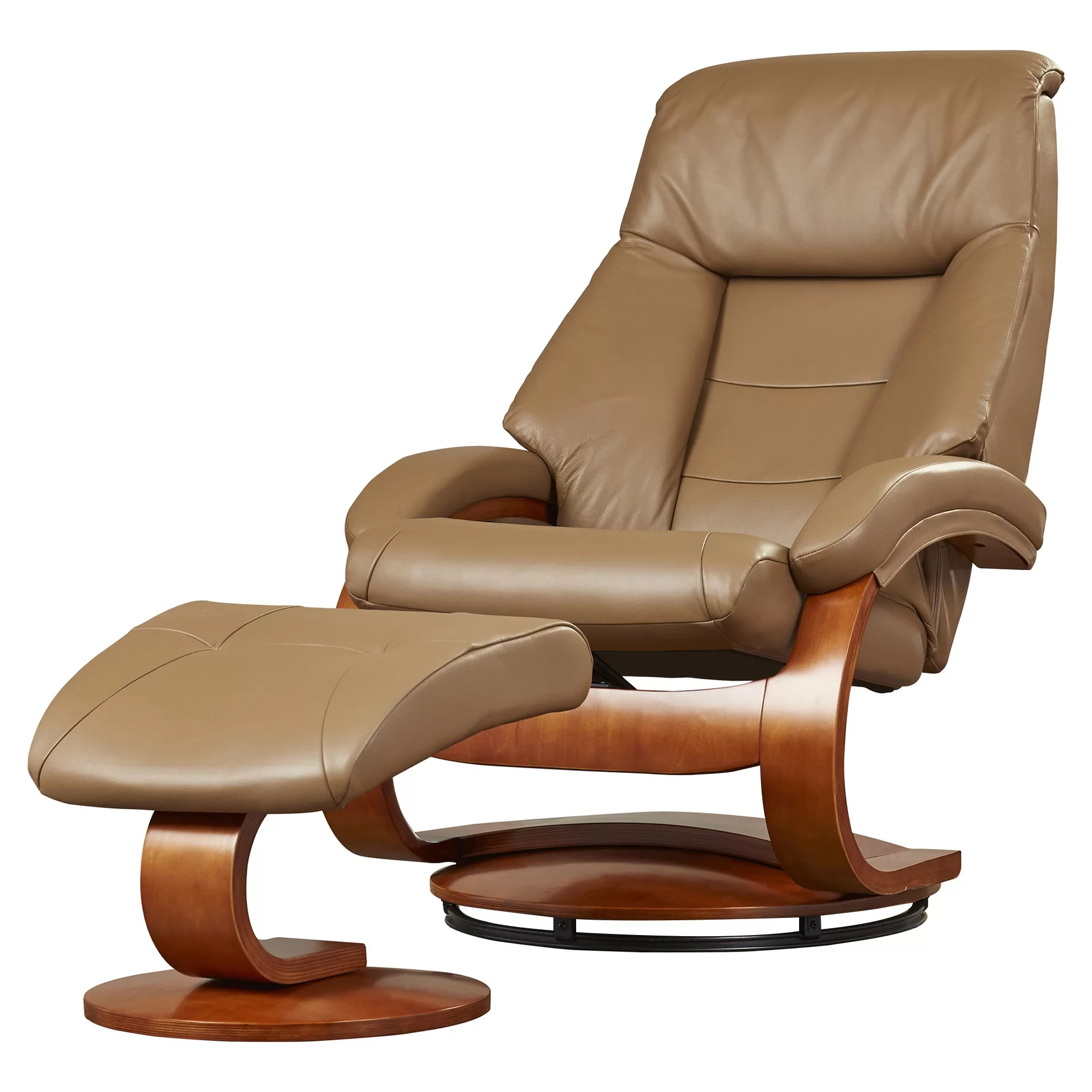 Ergonomic Living Room Chair Varick Gallery Leather Ergonomic Recliner And Ottoman