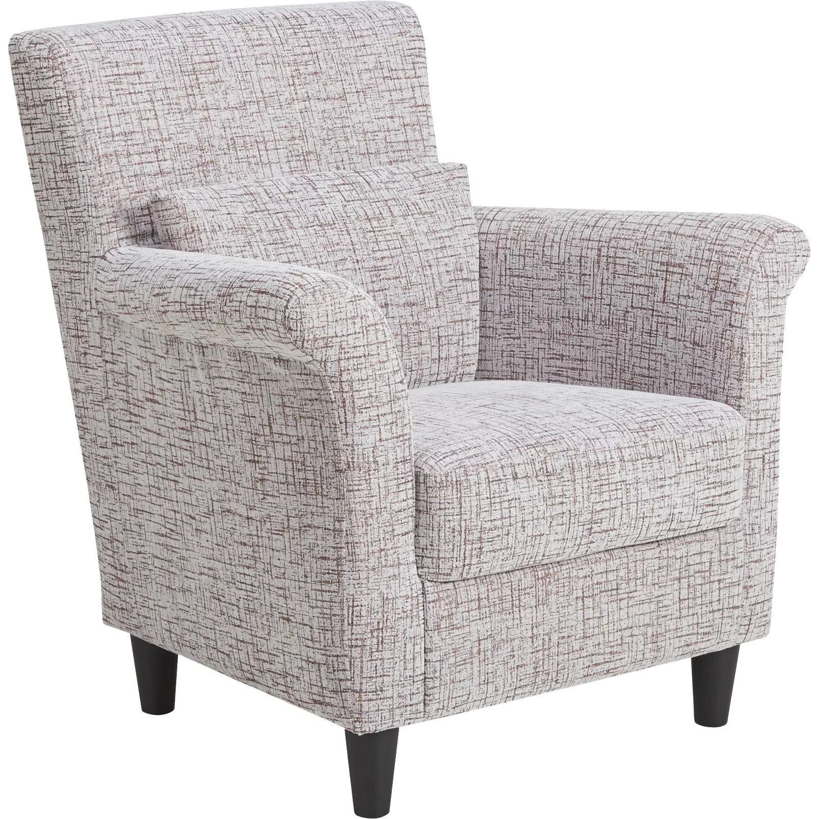 Pattern Chair Container Contemporary Stripes Pattern Fabric Accent Chair