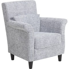 Blue Pattern Accent Chair Ja Spa Container Contemporary Stripes Fabric