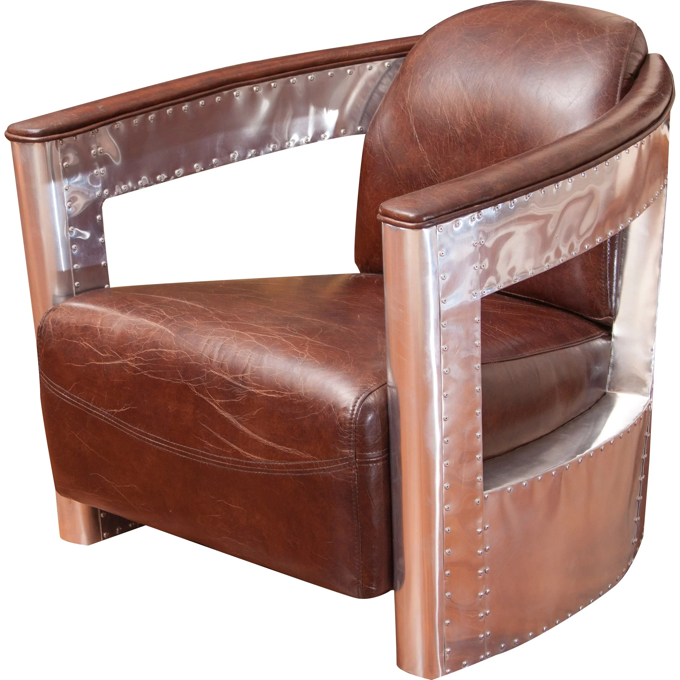 Metal And Leather Chair Trent Austin Design Leather And Metal Club Chair And Reviews