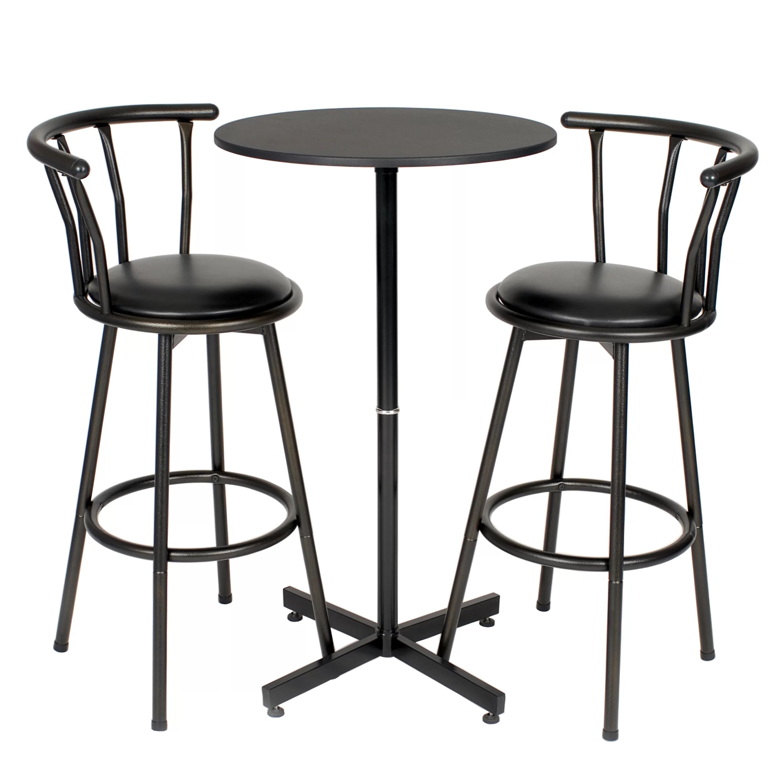 nor hill piece black metal bar table set with stools p rdhn l