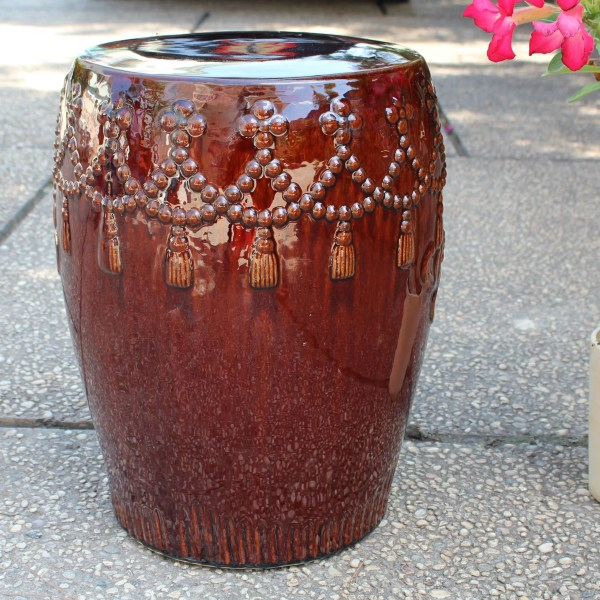 Bungalow Rose Lahjar Drum Ceramic Garden Stool &