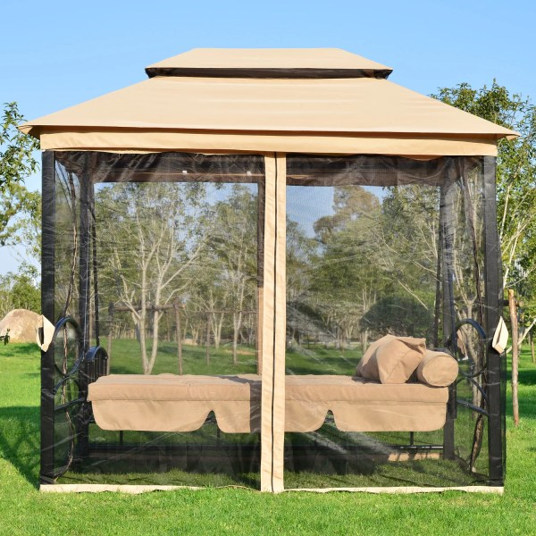 Outsunny Patio Porch Swing Canopy &