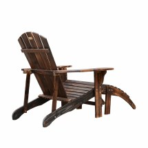 Outsunny Wooden Adirondack Outdoor Patio Lounge Chair