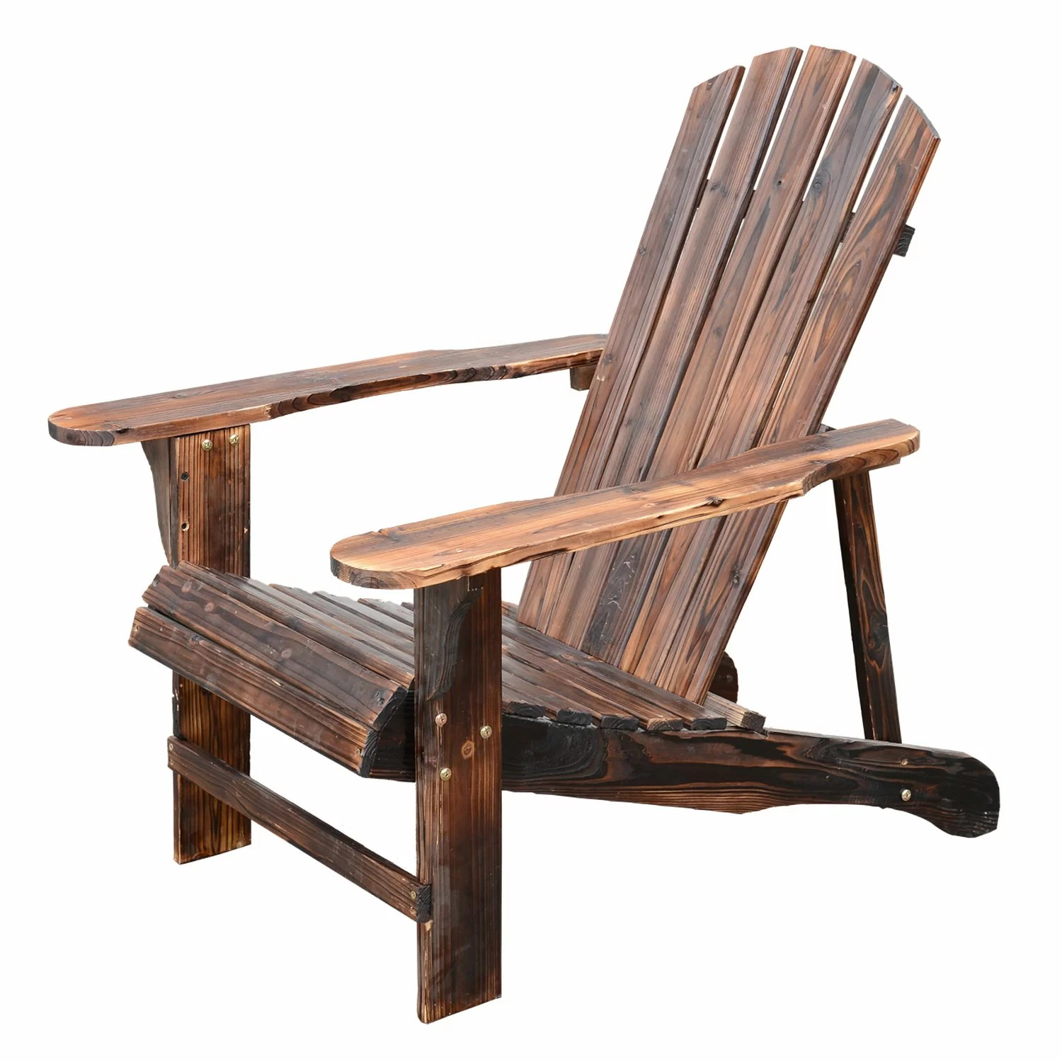 Outdoor Wooden Chairs Outsunny Wooden Adirondack Outdoor Patio Lounge Chair