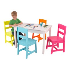 Kidkraft Table And Chairs Step2 With Umbrella Highlighter Kids 5 Piece Chair Set