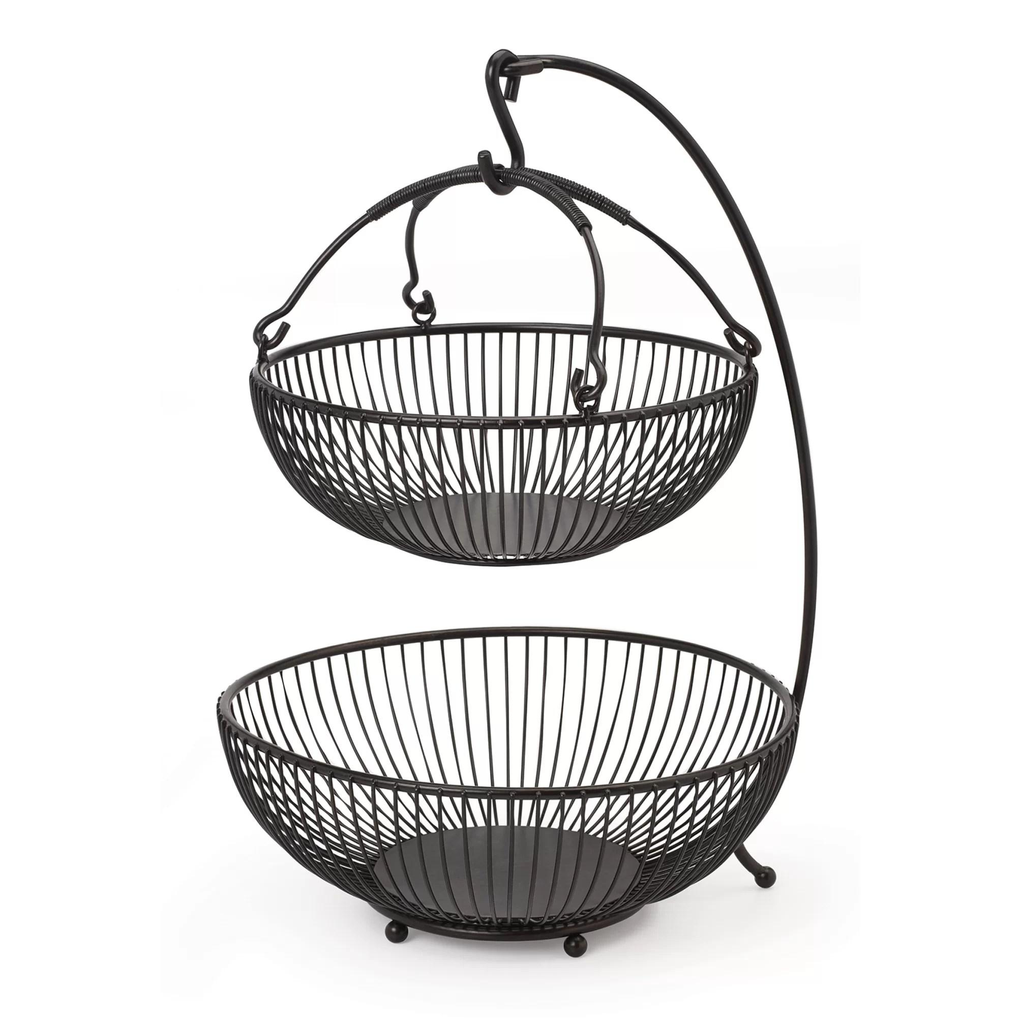 Gourmet Basics By Mikasa Spindle 2 Tier Adjustable Basket
