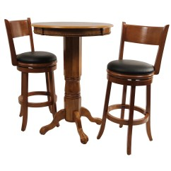 Pub Table And Chairs 3 Piece Set 2 Herman Miller Mirra Chair Palmetto Wayfair