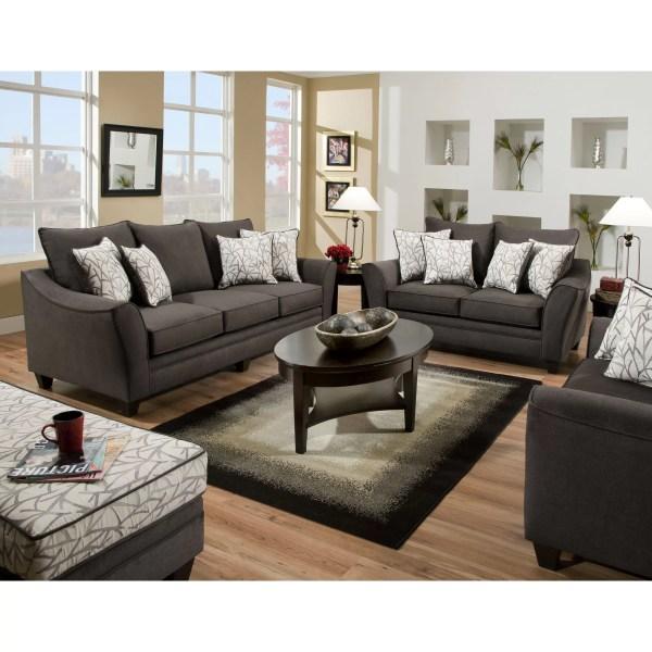american furniture sofas living room American Furniture Flannel Living Room Collection