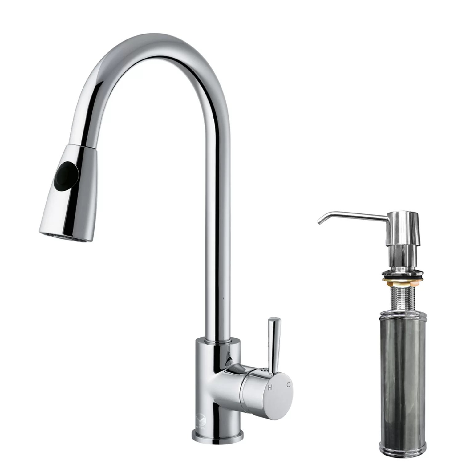 vigo kitchen faucet cafe curtains weston single handle pull down spray