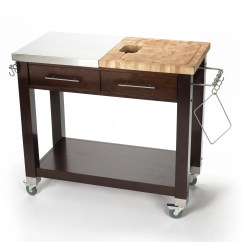 Chris And Kitchen Cart Corner Bench Pro Chef Island With Butcher Block