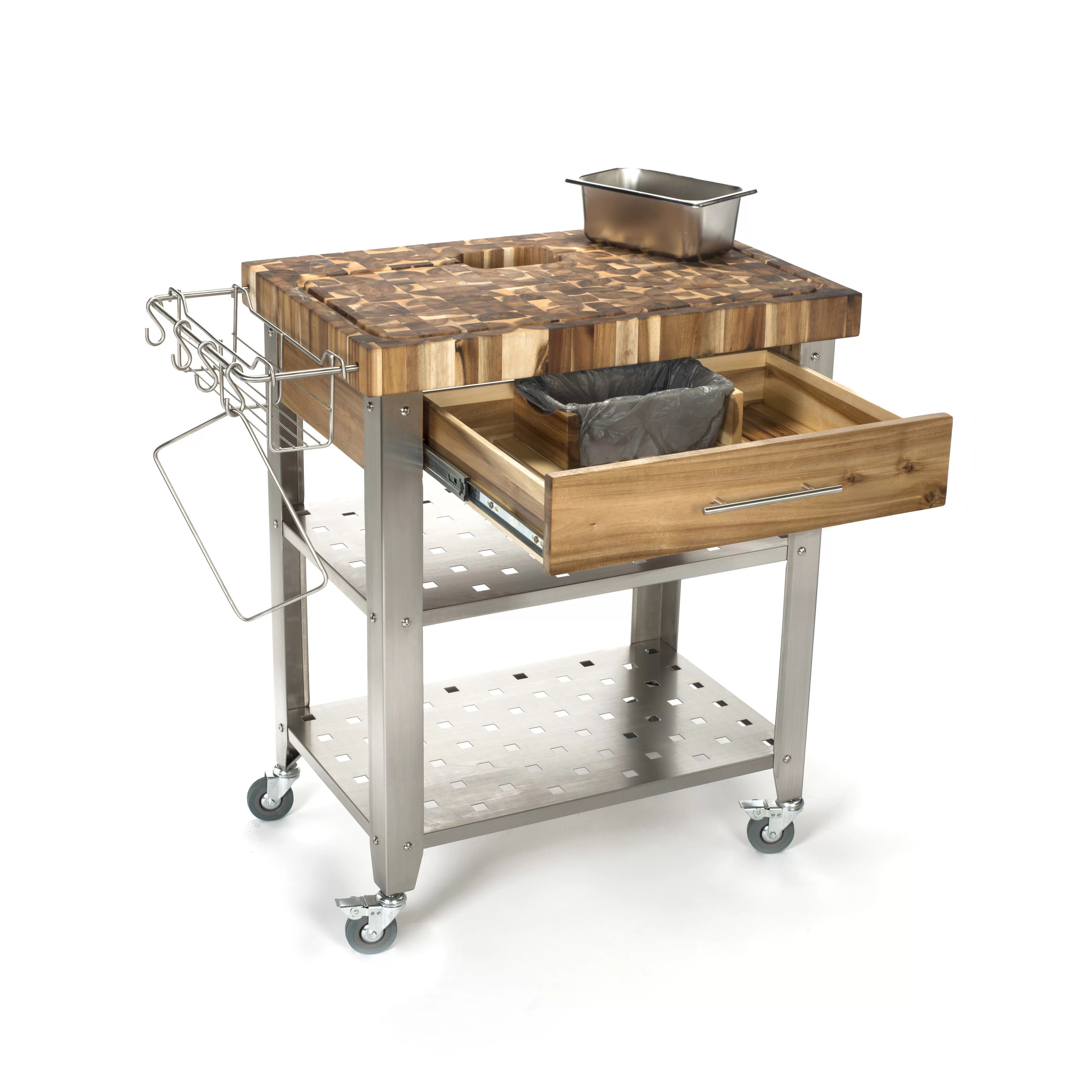 chris and kitchen cart used appliances for sale island with butcher block top