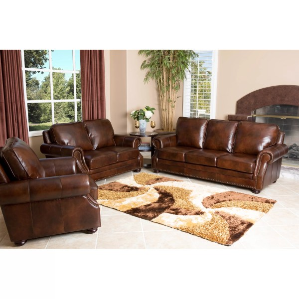 Abbyson Living Karington Leather Sofa &