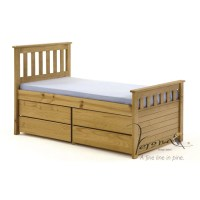 Ferrara Kids Captains Bed Frame with Underbed Storage ...