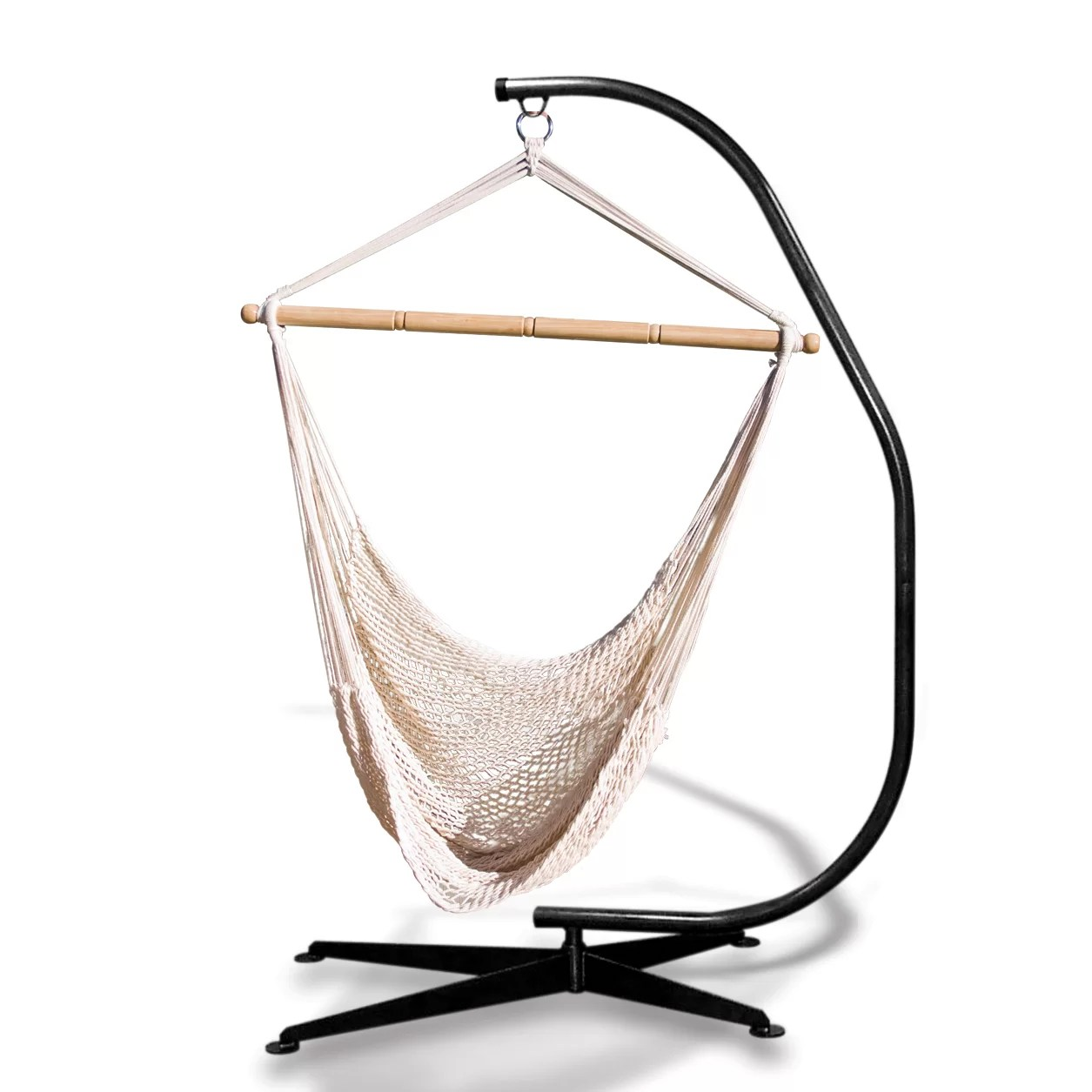 hammock chair with stand ikea table chairs hammaka suelo and rope combo reviews