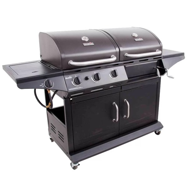 Gas and Charcoal Grill Smoker Combo